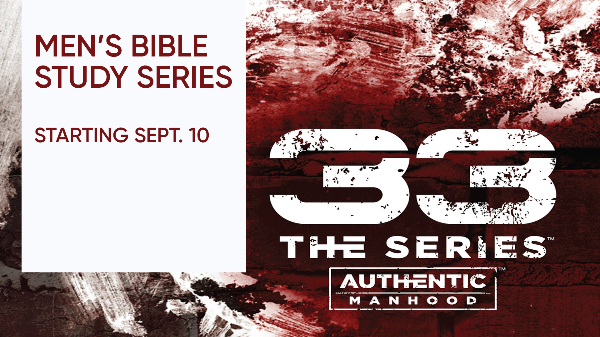 Men's Bible Study - Series 33: Authentic Manhood
