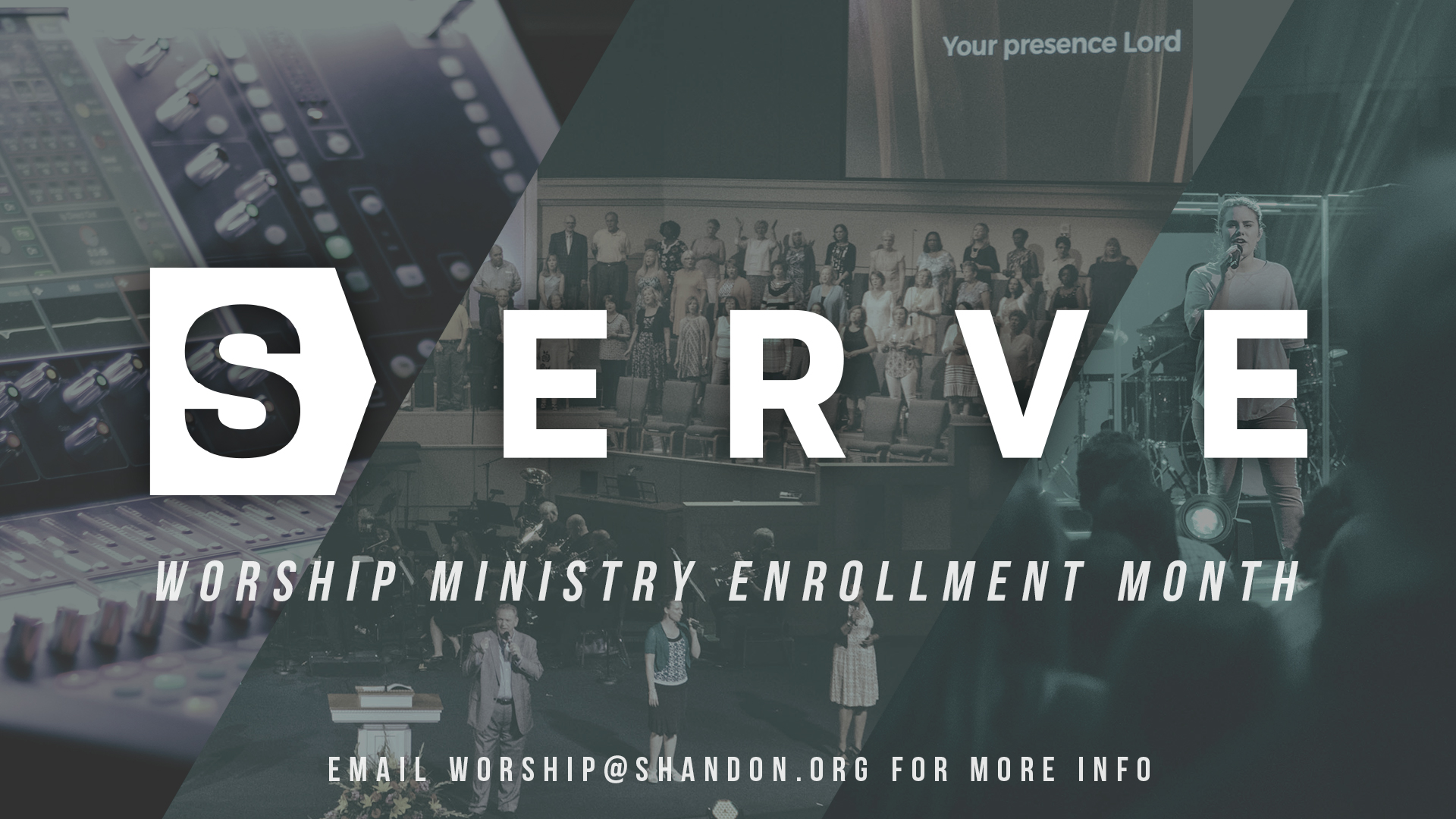 Opportunities to SERVE in our Worship Ministry