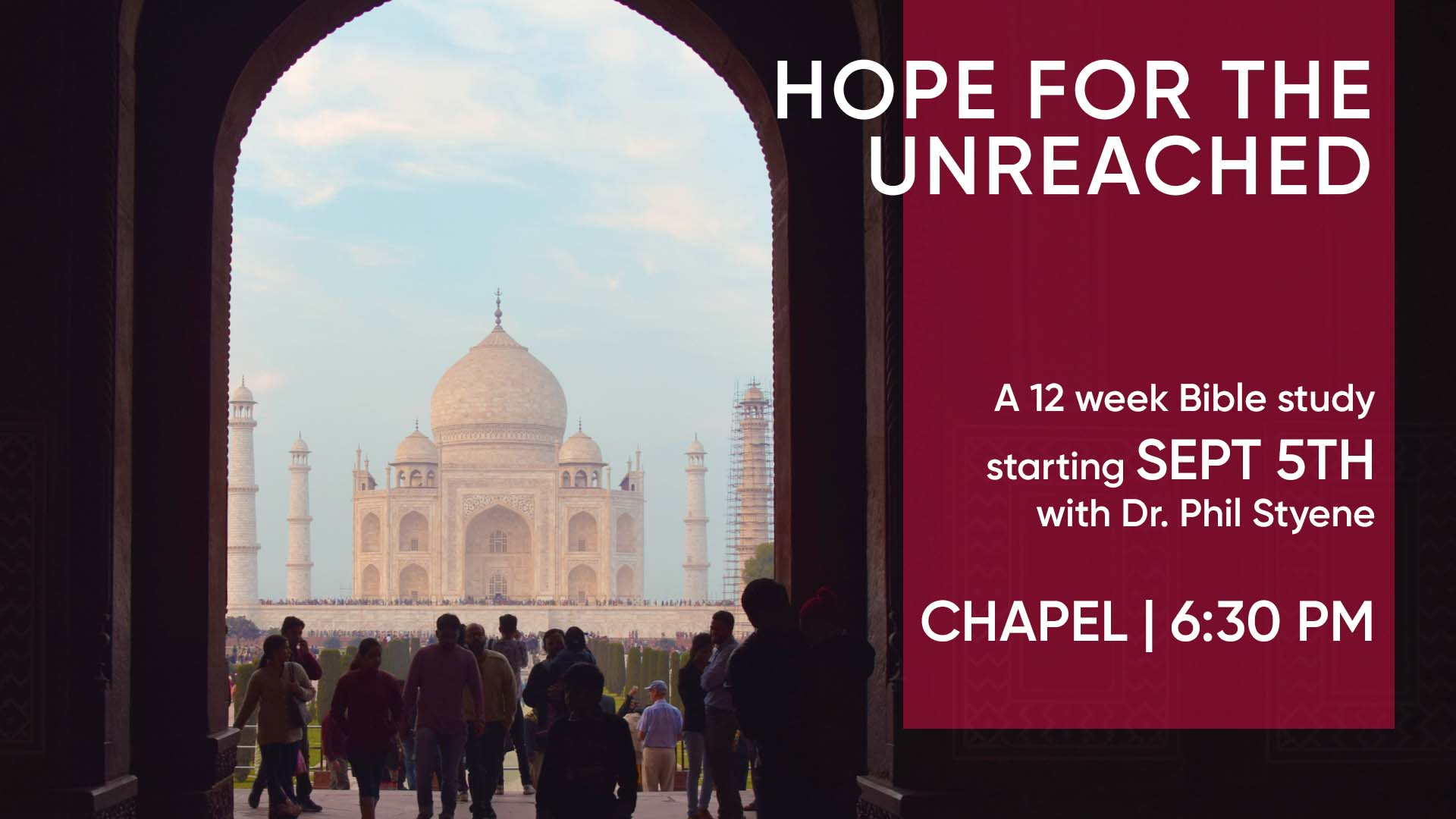Hope for the Unreached Bible Study